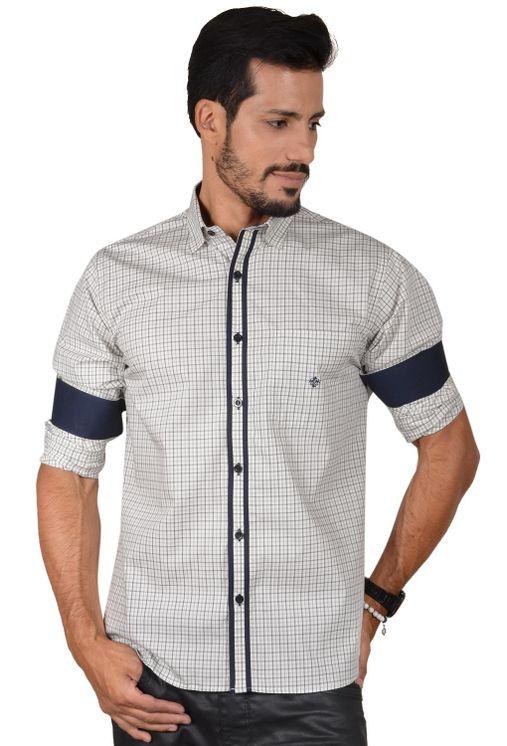 Camisa-casual-masculina-tradicional-algodao-fio-50-cinza-f01412a-1