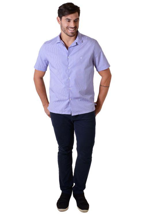 Camisa-casual-masculina-tradicional-algodao-fio-60-azul-medio-f01506a-4