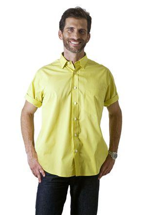 Camisa-social-masculina-tradicional-algodao-fio-40-amarelo-f09903a-1