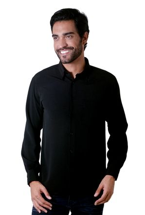 Camisa-casual-masculina-tradicional-microfibra-preto-f06208a-1