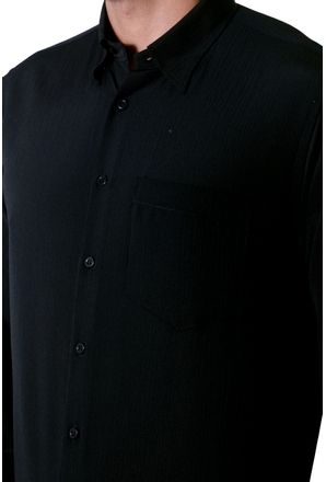 Camisa-casual-masculina-tradicional-microfibra-preto-f06208a-3
