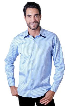 Camisa-casual-masculina-tradicional-algodao-fio-80-azul-escuro-f00541a-1