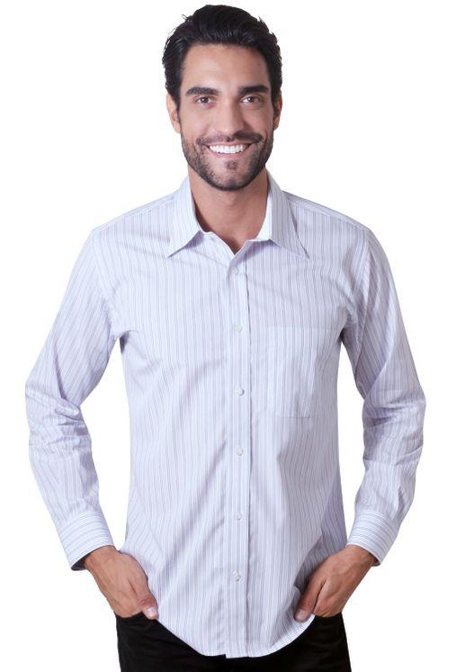 Camisaria Fascynios Oficial · Camisa Casual Masculina · Algodão Fio 80.  Camisa-casual-masculina-tradicional-algodao-fio-80-lilas- ... 335b4e1306b83