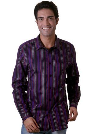 Camisa-casual-masculina-slim-algodao-fio-50-roxo-f00486s-1