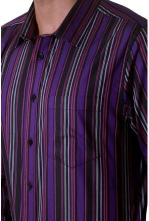 Camisa-casual-masculina-slim-algodao-fio-50-roxo-f00486s-3