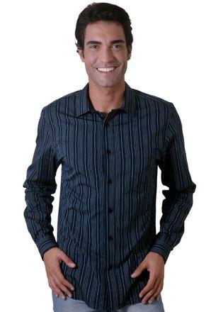 Camisa-casual-masculina-slim-algodao-fio-50-azul-escuro-f00486s-1