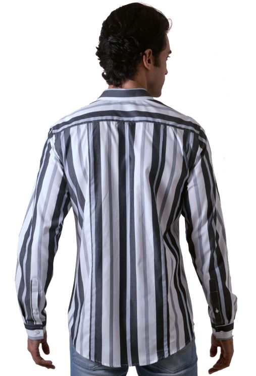 Camisa-casual-masculina-slim-algodao-fio-50-preto-f00470s-1