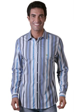 Camisa-casual-masculina-slim-algodao-fio-50-cinza-f00470s-1