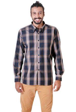 Camisa-casual-masculina-tradicional-algodao-fio-50-preto-f03225a-1