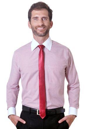 Camisa-social-masculina-tradicional-algodao-misto-vermelho-f05820a-1