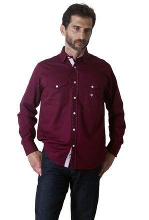Camisa-casual-masculina-tradicional-algodao-fio-40-roxo-f01391a-1