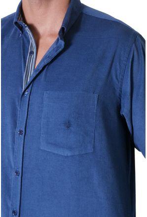Camisa-casual-masculina-tradicional-veludo-azul-medio-f01517a-3
