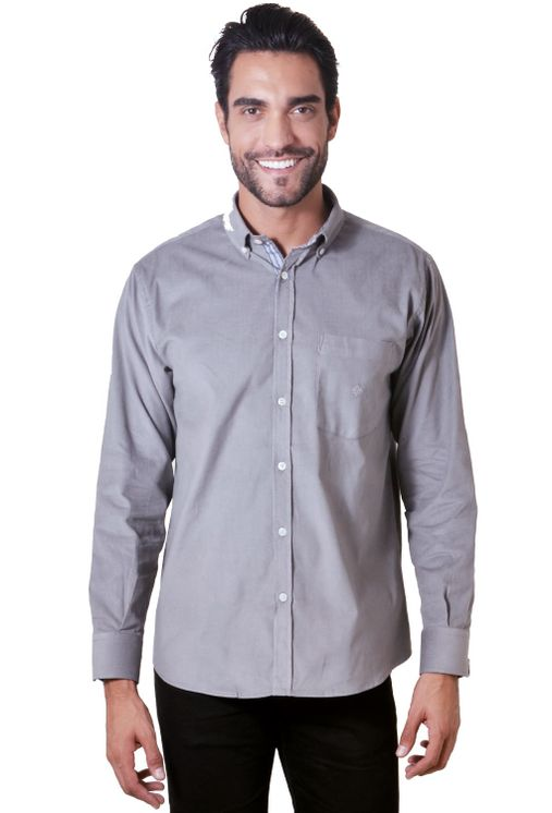 Camisa-casual-masculina-tradicional-veludo-cinza-f01517a-1