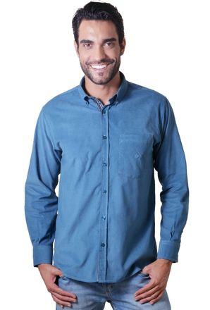 Camisa-casual-masculina-tradicional-veludo-azul-f01517a-1