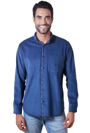 Camisa-casual-masculina-tradicional-veludo-azul-escuro-f01529a-1