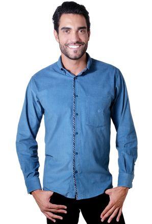 Camisa-casual-masculina-tradicional-veludo-azul-f01529a-1