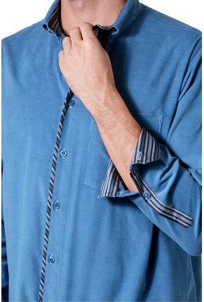 Camisa-casual-masculina-tradicional-veludo-azul-f01529a-3