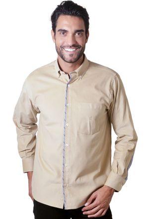 Camisa-casual-masculina-tradicional-veludo-bege-f01529a-1