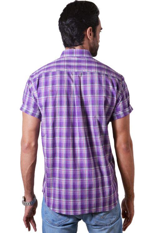 Camisa-casual-masculina-tradicional-algodao-fio-40-roxo-f05541a-2