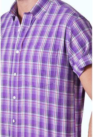 Camisa-casual-masculina-tradicional-algodao-fio-40-roxo-f05541a-3