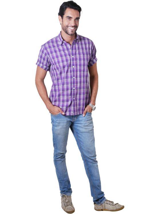 Camisa-casual-masculina-tradicional-algodao-fio-40-roxo-f05541a-4