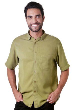 Camisa-casual-masculina-tradicional-tencel-verde-f06020a-1