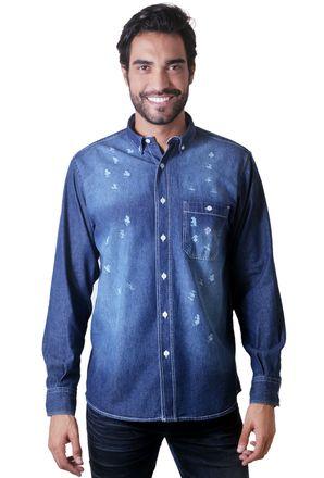 Camisa-casual-masculina-tradicional-jeans-azul-escuro-f01559a-1