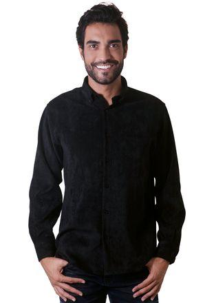 Camisa-casual-masculina-tradicional-veludo-molhado-preto-f05691a-1
