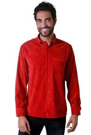 Camisa-casual-masculina-tradicional-veludo-molhado-vermelho-f05691a-1
