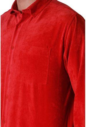 Camisa-casual-masculina-tradicional-veludo-molhado-vermelho-f05691a-3