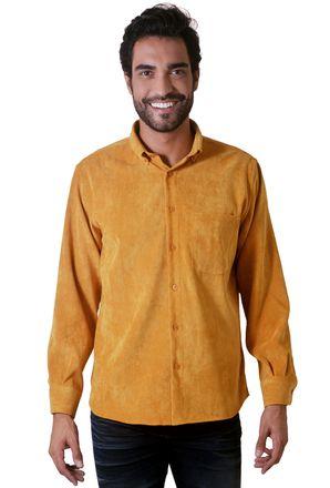 Camisa-casual-masculina-tradicional-veludo-molhado-amarelo-f05691a-1