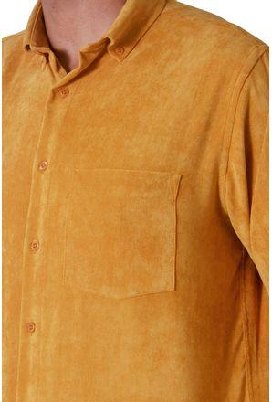 Camisa-casual-masculina-tradicional-veludo-molhado-amarelo-f05691a-3