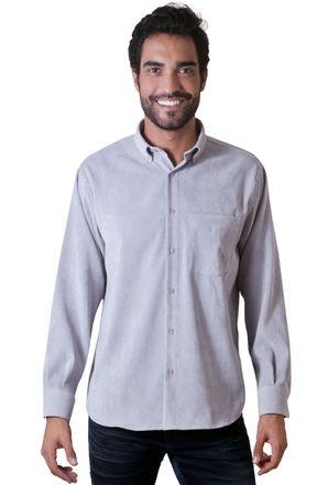 Camisa-casual-masculina-tradicional-veludo-molhado-cinza-f05691a-1