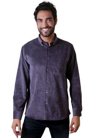 Camisa-casual-masculina-tradicional-veludo-molhado-grafite-f05691a-1