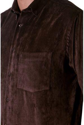 Camisa-casual-masculina-tradicional-veludo-molhado-marrom-f05691a-3