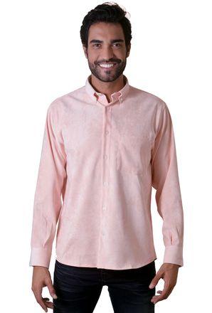 Camisa-casual-masculina-tradicional-veludo-molhado-salmao-f05691a-1