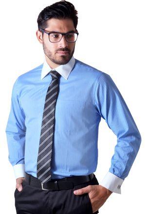 Camisa-social-masculina-tradicional-abotoadura-azul-medio-f01593a- ... e064a78d0571a