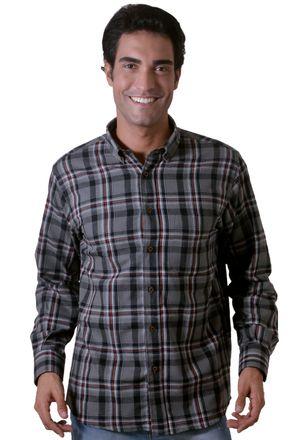 Camisa-casual-masculina-tradicional-flanela-grafite-f05689a-1