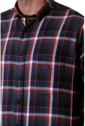 Camisa-casual-masculina-tradicional-flanela-vermelho-f05690a-3