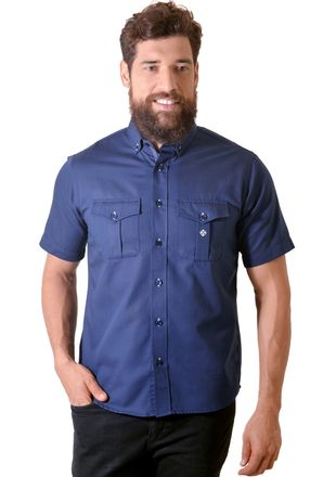 Camisa-casual-masculina-tradicional-sarjada-azul-escuro-f01700a-1