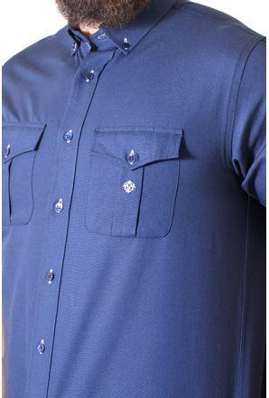 Camisa-casual-masculina-tradicional-sarjada-azul-escuro-f01700a-3