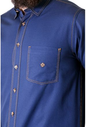 Camisa-casual-masculina-tradicional-sarjada-azul-escuro-f01679a-3