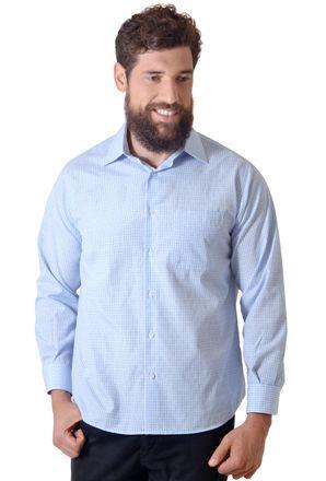 Camisa-casual-masculina-tradicional-algodao-azul-claro-f05694a-1