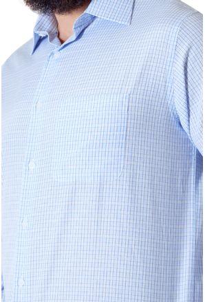 Camisa-casual-masculina-tradicional-algodao-azul-claro-f05694a-3