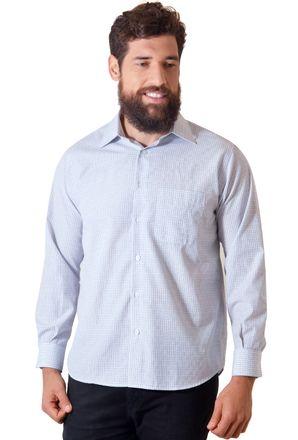 Camisa-casual-masculina-tradicional-algodao-cinza-f05694a-1