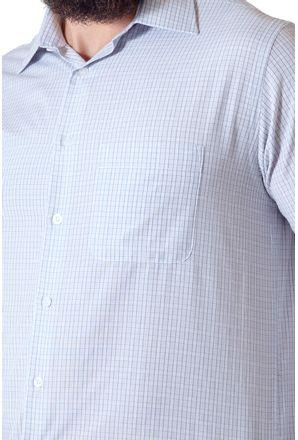 Camisa-casual-masculina-tradicional-algodao-cinza-f05694a-3