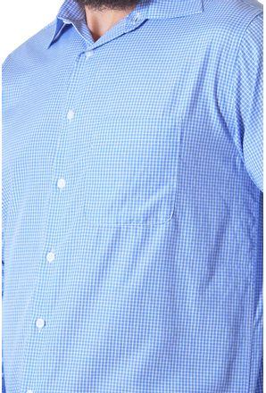 Camisa-casual-masculina-tradicional-algodao-azul-f05698a-3