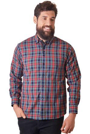 Camisa-casual-masculina-tradicional-fio-50-vermelho-f01465a-1