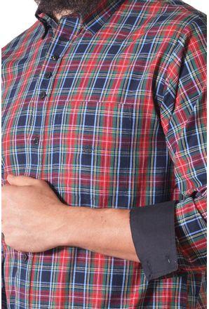 Camisa-casual-masculina-tradicional-fio-50-vermelho-f01465a-3
