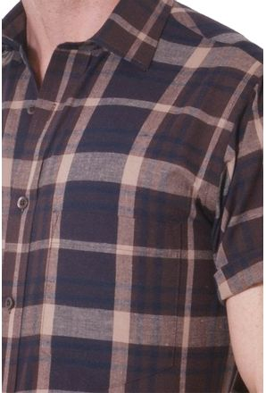 Camisa-casual-masculina-tradicional-algodao-fio-40-marrom-f05527a-3